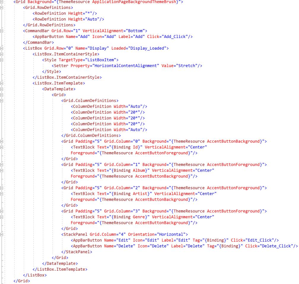 xaml-database