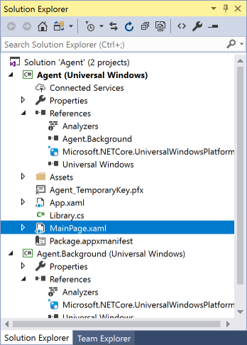 vs2017-mainpage-library-agent