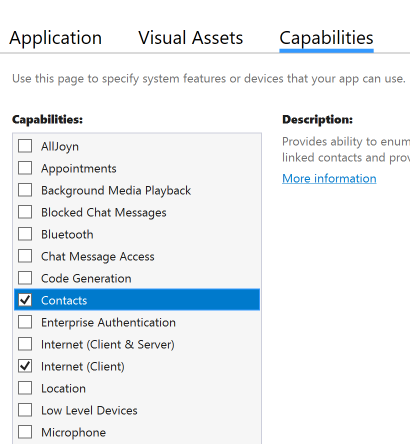 vs2017-manifest-contacts-app