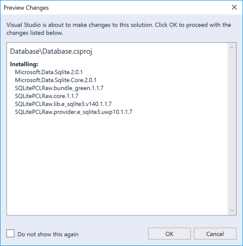 vs2017-nuget-preview-changes-database
