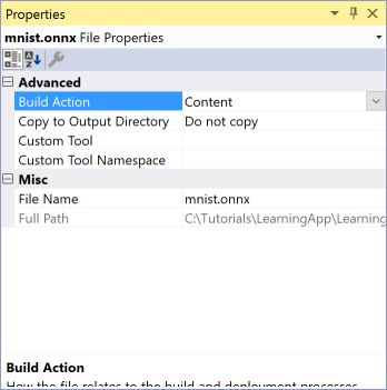 vs2017-properties-learning-app